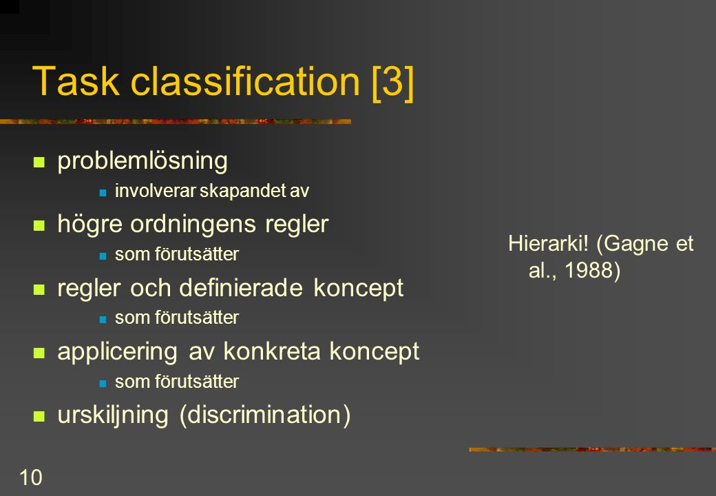 Task classification [3]